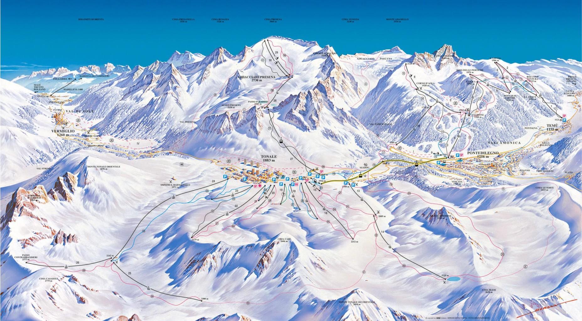 Sjezdovky Passo Tonale ski